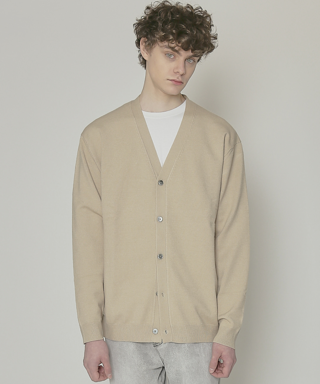 DWS SOFT BASIC CARDIGAN(SAND)