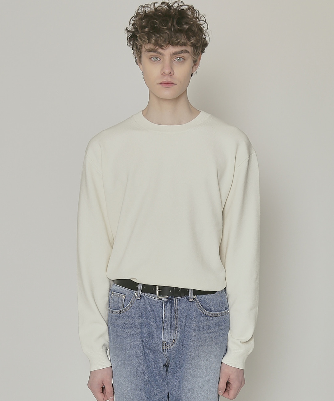 DWS SOFT BASIC ROUND SWEATER(IVORY)